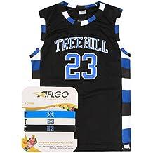 AFLGO Nathan Scott 23 One Tree Hill Jersey Basketball Jersey Include Set Wristbands S-XXL Black