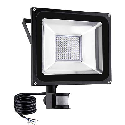 Induction LED Flood Light, 10W 20W 30W 50W 100W LED Motion Sensor Flood Lights, Outdoor Intelligent Light, Waterproof IP65, Super Bright PIR Security Lights, for Garden, Yard, Road, Square (Warm White, 100W)