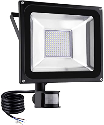 Viugreum Foco LED con Sensor de Movimiento 100W, Foco proyector LED, Iluminación de exterior Para Jardín, Terraza, Garaje, Camino de Entrada, Impermeable IP65, Blanco Cálido: Amazon.es: Iluminación