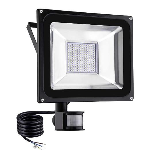 Viugreum Foco LED con Sensor de Movimiento 100W, Foco proyector LED, Iluminación de exterior Para Jardín, Terraza, Garaje, Camino de Entrada, ...