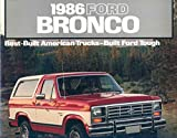 1986 Ford Bronco Truck Brochure