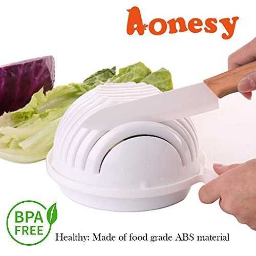 New Salad Maker Bowl, Dual Use 60 Seconds Vegetable or Fruit Cutter Bowl Easy Salad Slicer Salad (Easy Slicer)