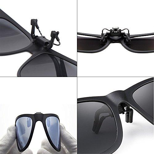 sol Gafas clip con y miopes exterior Gafas Unisex sol cómodos pesca de de azul para polarizadas Elegantes conducción Clips xHR1qrx5