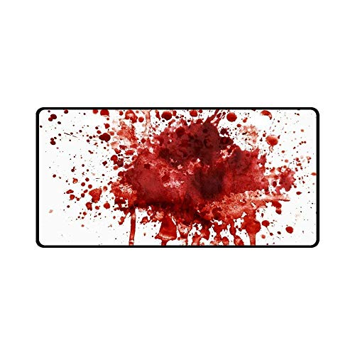 Teisyouhu Funny Splattered Blood Stain Horror Halloween Theme Automotive Aluminum License Plate Frame Funny Car Licenses Plate Covers Holders for US CA Vehicles -