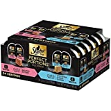 Sheba Perfect Portions Multipack Salmon and Whitefish & Tuna Entrée Wet Cat Food Corn Soy Wheat Free (12 Twin Packs), 1.98 Pounds