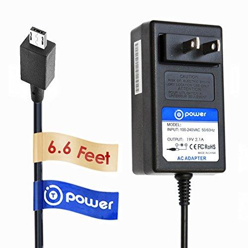 T-Power ( 19V-33W ) Ac Dc Adapter for Asus Eee Book X205 E202 Series Transformer Book Flip TP200 TP200SA & vivobook chromebook E200HA; Power Supply Charger