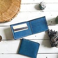 Cartera clásica hombre color azul 100% piel billetera