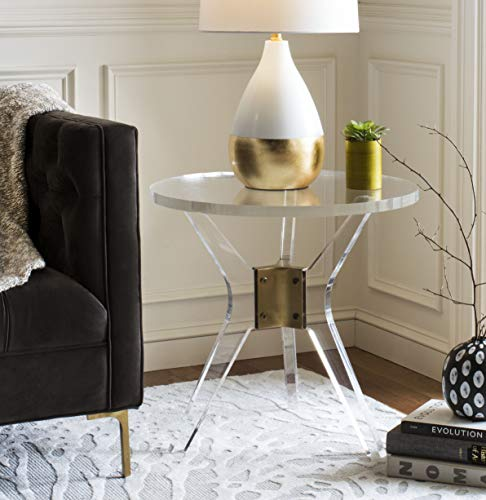 Safavieh SFV2532A Home Collection Werner Acrylic End Table, Clear