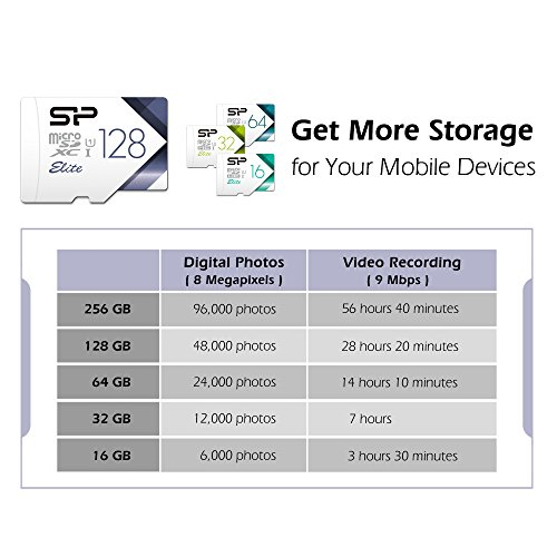 Silicon Power-128GB High Speed MicroSD Card with Adapter by SP Silicon Power (Image #2)'