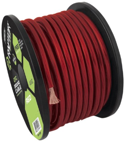 Raptor R510-250R 10-Gauge 250-Feet Copper Clad Aluminum Power Cable - Red
