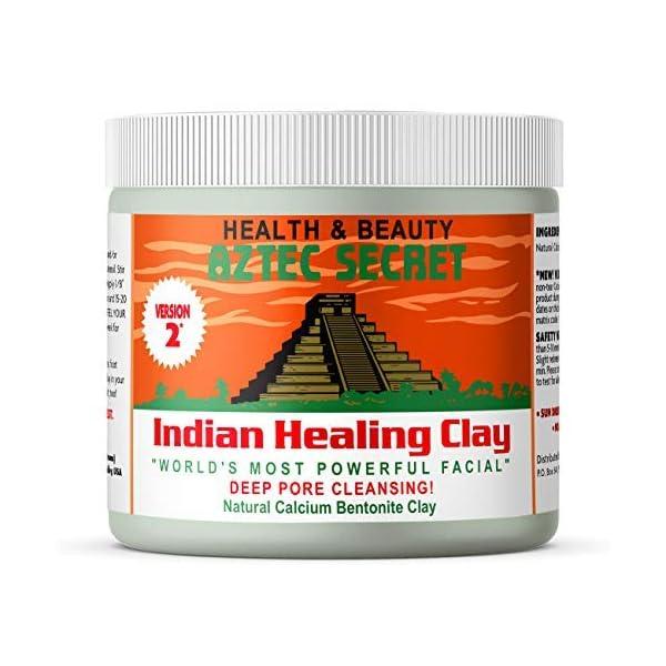 Aztec Secret – Indian Healing Clay 1 lb – Deep Pore Cleansing Facial & Body Mask – The Original 100% Natural Calcium…