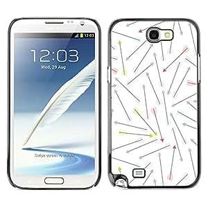 For SAMSUNG Galaxy Note 2 II / N7100 Case , Love Valentines White Pattern - Diseño Patrón Teléfono Caso Cubierta Case Bumper Duro Protección Case Cover Funda