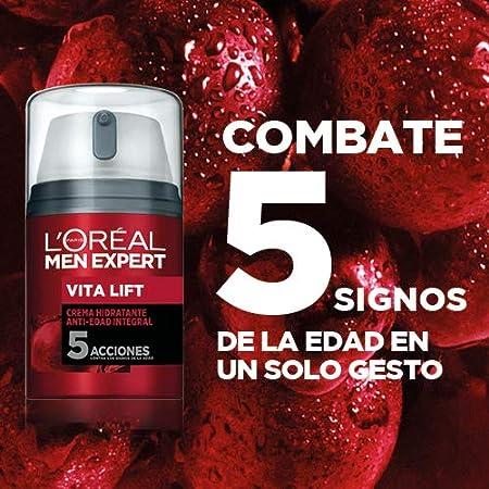 L'Oréal Paris Men Expert Crema Hidratante Anti-Edad 5 Acciones Vitalift para Hombre - 50 ml