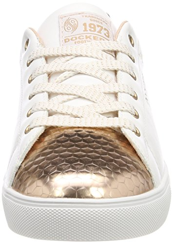Basses 38pd205 weiss Weiss Femme Blanc Gerli Dockers Sneakers 592 rosegold bronze By 616592 Cw4Apfq