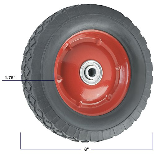 Replacement Wheel with Offset Steel Hub - 8-Inch x 1-3/4-Inch - 60 lb. Load Capacity - For use on Wagons, Carts, & Many Other Products by TITAN (Image #1)