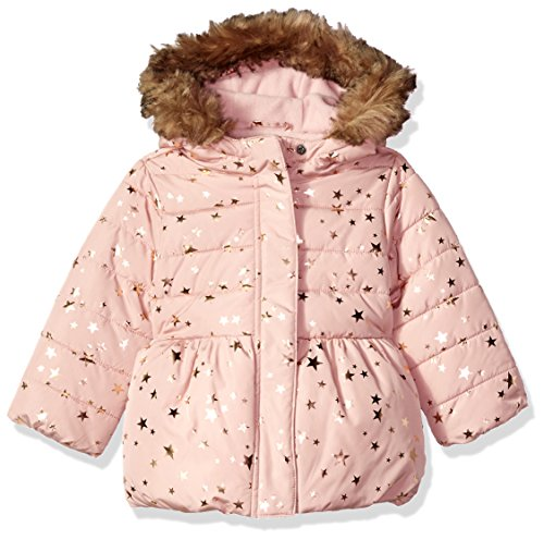 The Children's Place Baby Girls' Winter Jacket, Cherry Ice 90207, 5T