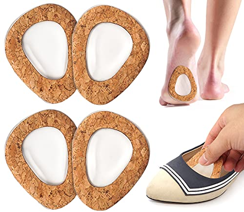 Beautulip Ball of Foot Cushions for Sandals Metatarsal Pads Gel Adhesive Shoe Inserts - Forefoot and Sole Support Pads for Women (2 Pairs)