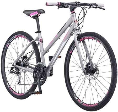 Schwinn Women's Phocus 1500 Flat Bar Road 700C Wheel Bicycle, Matte Grey, 17