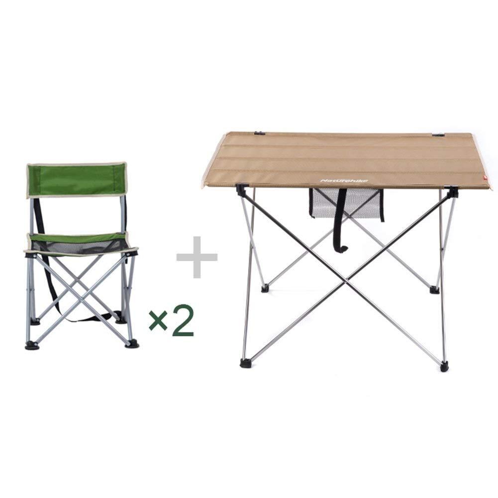 LJFYMX Mesa y sillas de Camping La Mesa de Acampada Incluye 2 ...