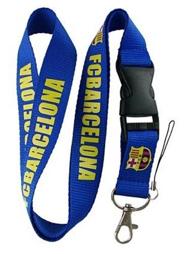FC Barcelona Blue Lanyard Lanyard Keychain Holder with Snap Buckle -
