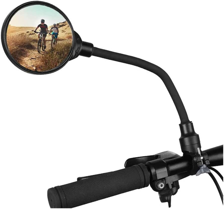 VANGE 1 Piece Bicycle Rearview Mirror,Bicycle Mirror,360/° Adjustable Handlebar Bike Mirror,Bicycle Rear View Mirror,Wide Angle Rear View Mirrors,Apply to Bike,Electric Bicycle,Moped,Cycling Accessory