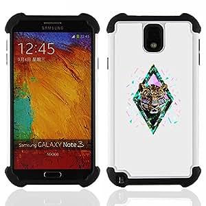 For Samsung Galaxy Note3 N9000 N9008V N9009 - diamond cheetah leopard glitter grey Dual Layer caso de Shell HUELGA Impacto pata de cabra con im????genes gr????ficas Steam - Funny Shop -
