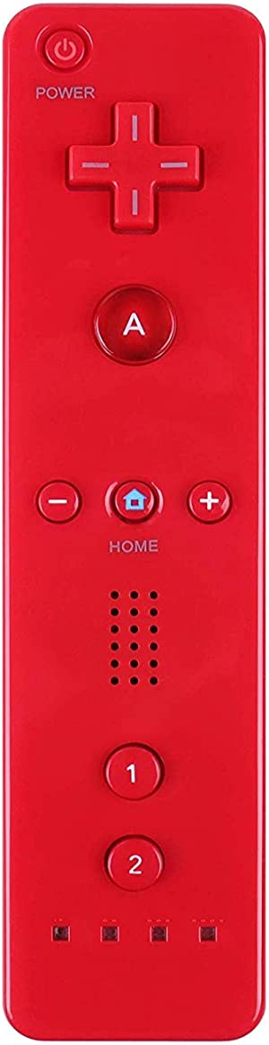 Yosikr Wireless Remote Controller for Wii Wii U (1 Pack, Red)