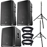 Electro-Voice ELX200-12P Speakers (x2), ELX200-18SP Subwoofer, Ultimate Stands