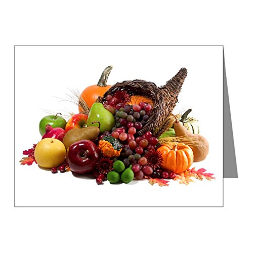 Note Card Thanksgiving Turkey Cornucopia -