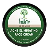 Best Essential Oils for Acne TreeActiv Acne Eliminating Face Cream  Best Natural Extra Strength Fast Acting Treatment for Clearing Facial Acne  Gentle Enough for Sensitive Skin, Adults, Teens, Men, Women  Tea Tree  2 fl oz