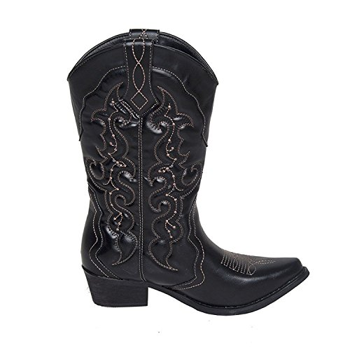939bdb93e10 SheSole Womens Western Country Cowgirl Cowboy Boots - Buy Online in ...