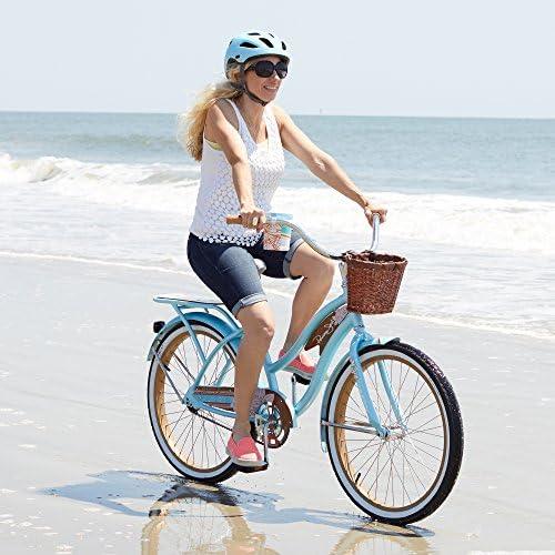 Huffy Panama Jack Bicicleta de Playa con Soporte para Tazas, Estante Trasero y Cesta para Manillar: Amazon.es ...