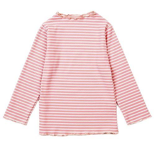 Spring&Gege Little Girls Long Sleeve Knitted Slim Striped T-Shirt