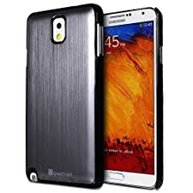 GreatShield TERRA Series Brushed Metal + PC Bumper Case Cover for Samsung Galaxy Note 3 / Note III (Gunmetal)
