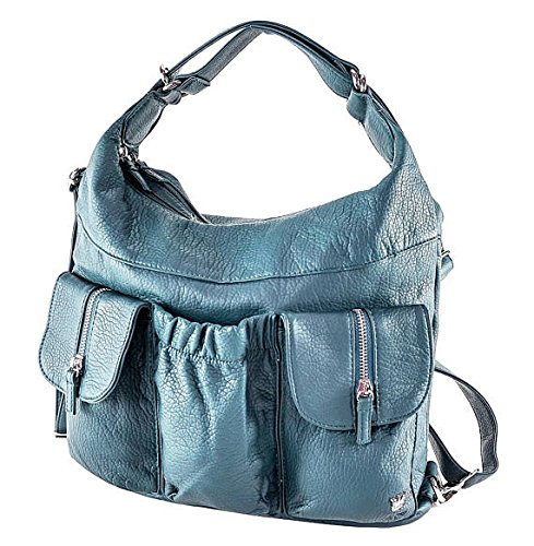 Purse Vegan Leather Slate Backpack Shoulder Soft Bag Green in Butterfly King and Purse Convertible 4rxqT7Pw4v