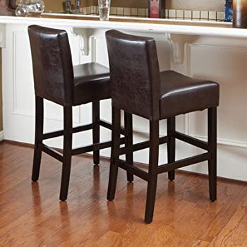 Best Selling Lopez Leather Counter Stool Brown Set of 2 & Amazon.com: Monsoon Pacific Villa Faux Leather Counter Stool ... islam-shia.org