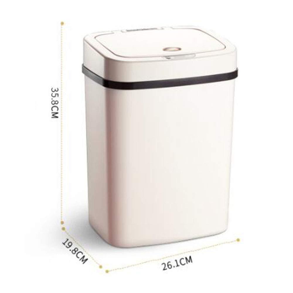 rosa cubo de basura autom/ático para inducci/ón otakujk Cubo de basura autom/ático con sensor autom/ático sin contacto y carga USB