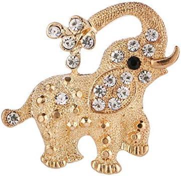 ブローチ 象 ラインストーン おしゃれ 誕生日 記念日 ジュエリー プレゼント レディース