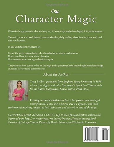 Character Magic: Introduction To Script Analysis (Theatre 1 and 2 ...