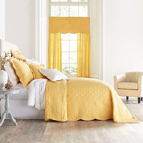- BrylaneHome Florence Oversized Bedspread - Aspen Gold, King