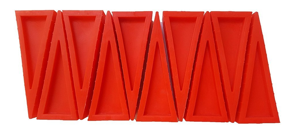 LINE2design Premium Door Sprinkler Wedges - Firefighter Door Stopper - Heavy Duty Plastic Door Stoppers - Firefighter Rubber Doorstops Safety Doors Opener (Pack of 25, Red)
