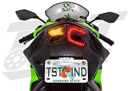 Integrated Programmable Tail Light for Kawasaki ZX6R 2013 2014 2015 2016 2017 2018 SMOKED (Zx6r Tail)