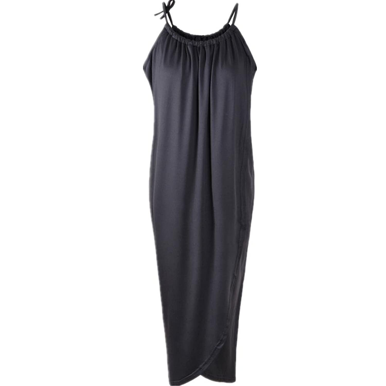 Adolpha Frauen-Kleid-Taille dünner runder Ansatz Sleeveless Frühlings-Sommer-Polyester-Weiß