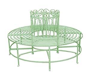 RoyalCraft Romance verde Full redondo árbol banco