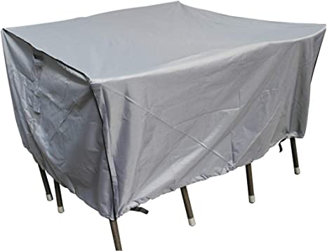 Laxllent Patio Table Set Cover Outdoor Furniture Cover Waterproof Windproof Breathable 135x135x70cm Grey Heavy Duty 600d Oxford Cover For Outdoor Furnituresets Sofa Amazon Co Uk Garden Outdoors