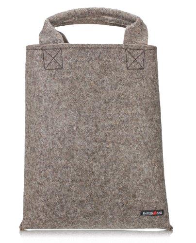 Haflinger Taschen 699912 Filz-Shopper Damen Tragetasche, xx cm Grau