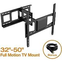 FLEXIMOUNTS V2 Full Motion Swivel Tilt and Rotate TV Wall Mount fits for Most of 32-50 LCD LED TV