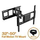 FLEXIMOUNTS V2 Full motion Swivel Tilt and Rotate TV wall mount fits for most of 32