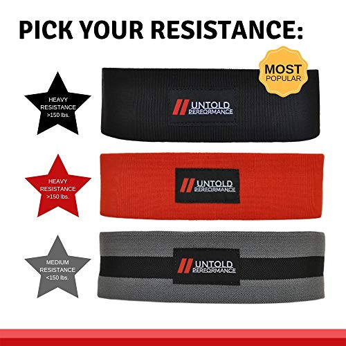 High Resistance Hip Band | Build and Activate Glutes, Quads, Hamstrings, Hips, and Butt | Weightlifting, Bodybuilding, Powerlifting, Cross Fit Training, and Yoga for Men and Women (Black - Heavy)