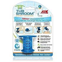 TubShroom The Revolutionary Tub Drain Protector Hair Catcher/Str